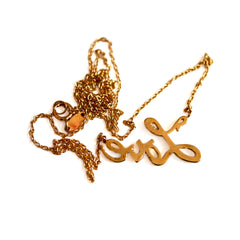 Gold Glorious Gold: LOVE Necklace