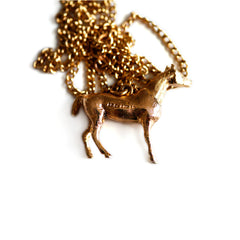 1970s Gold Horse Vintage Necklace