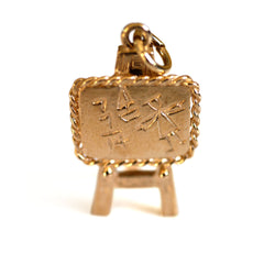 Gold Glorious Gold: 1977 Back to School Blackboard Pendant