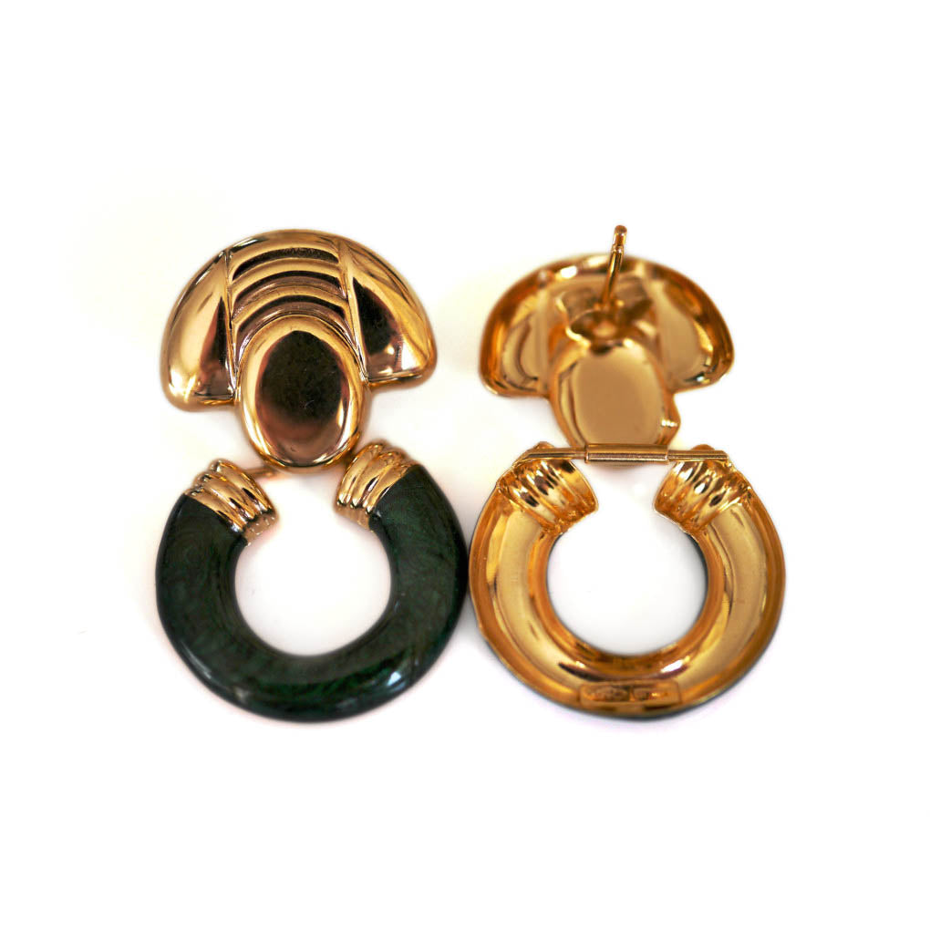 Dolce Vita Enameled Vintage Earrings