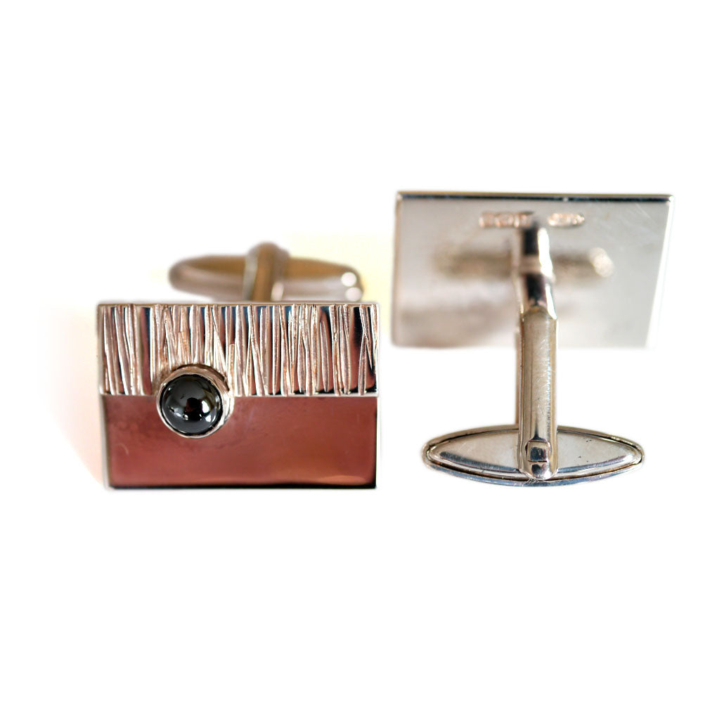Silver Linings: 1970s Barked Ball Cufflinks
