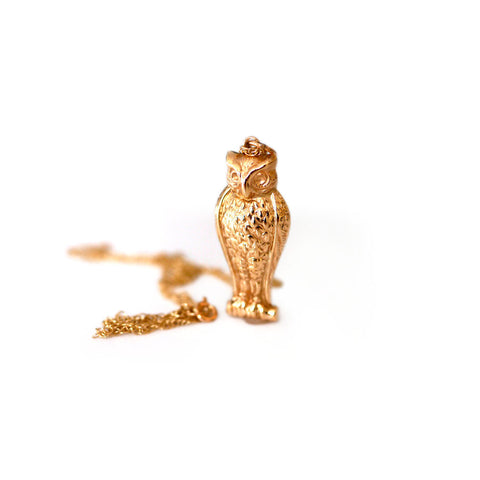 Gold Glorious Gold: 1960s Owl Nekclace