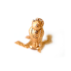 Animal Jewellery Vintage Gold 1960s Owl Necklace