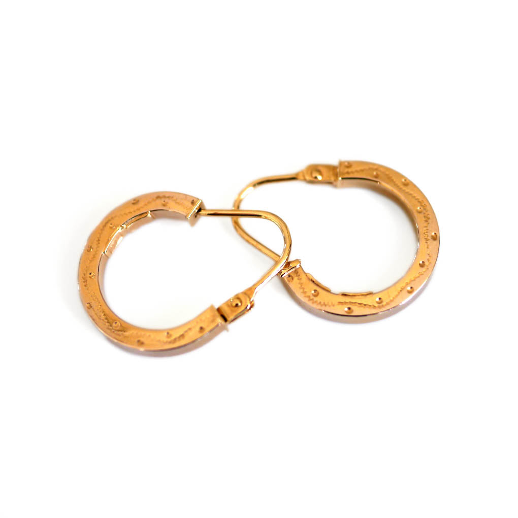 Gold Glorious Gold: Teeny Tiny Horseshoe Hoops