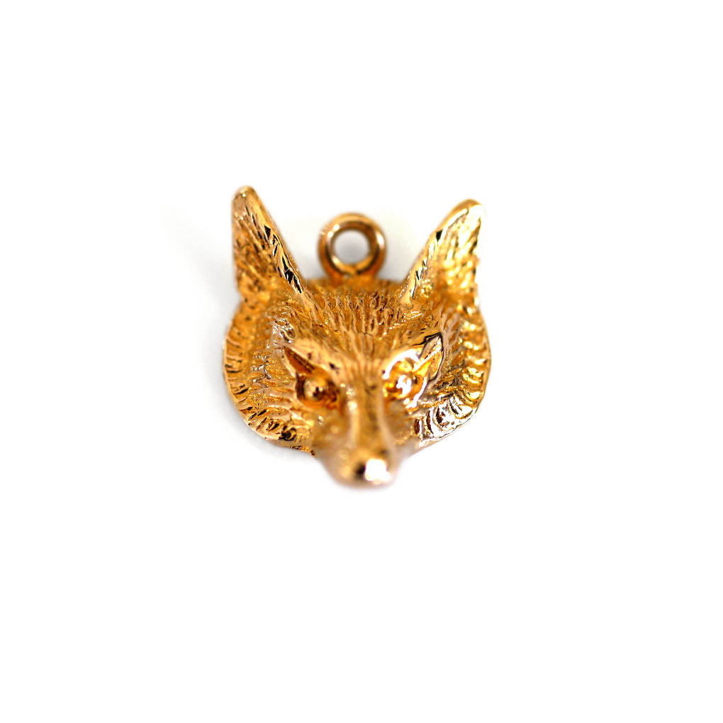 Gold Vintage Fox Necklace