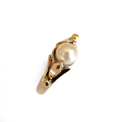 1980s Vintage Pearl Dress Ring
