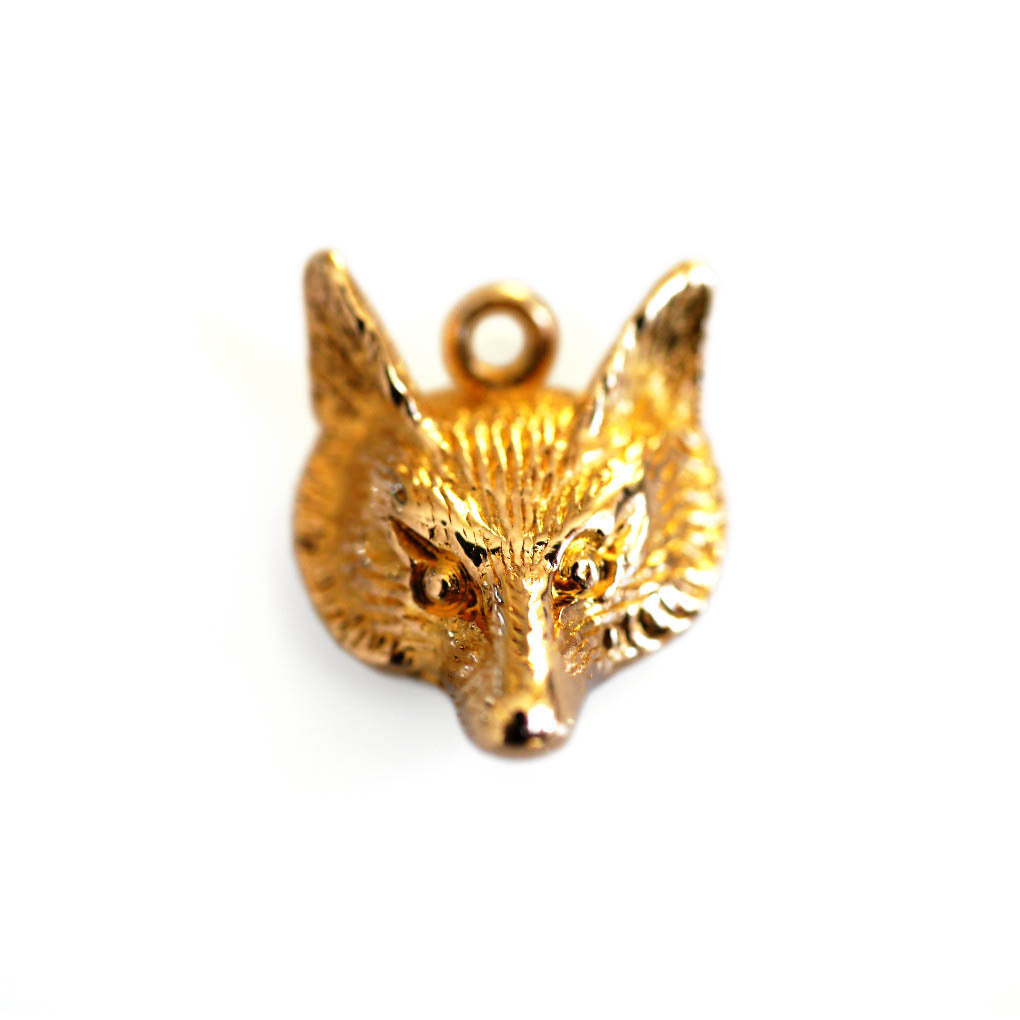 Gold Fox Vintage Necklace