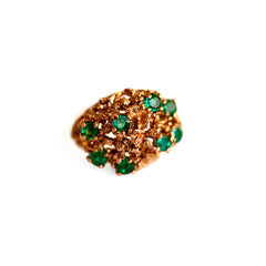 Emerald Cocktail Ring 1970s