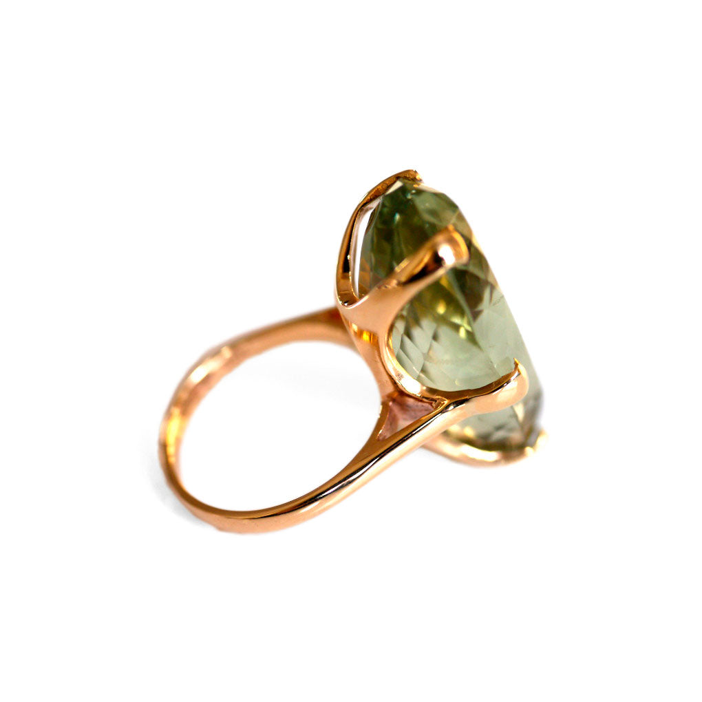 1960s Vintage Prasiolite Cocktail Ring