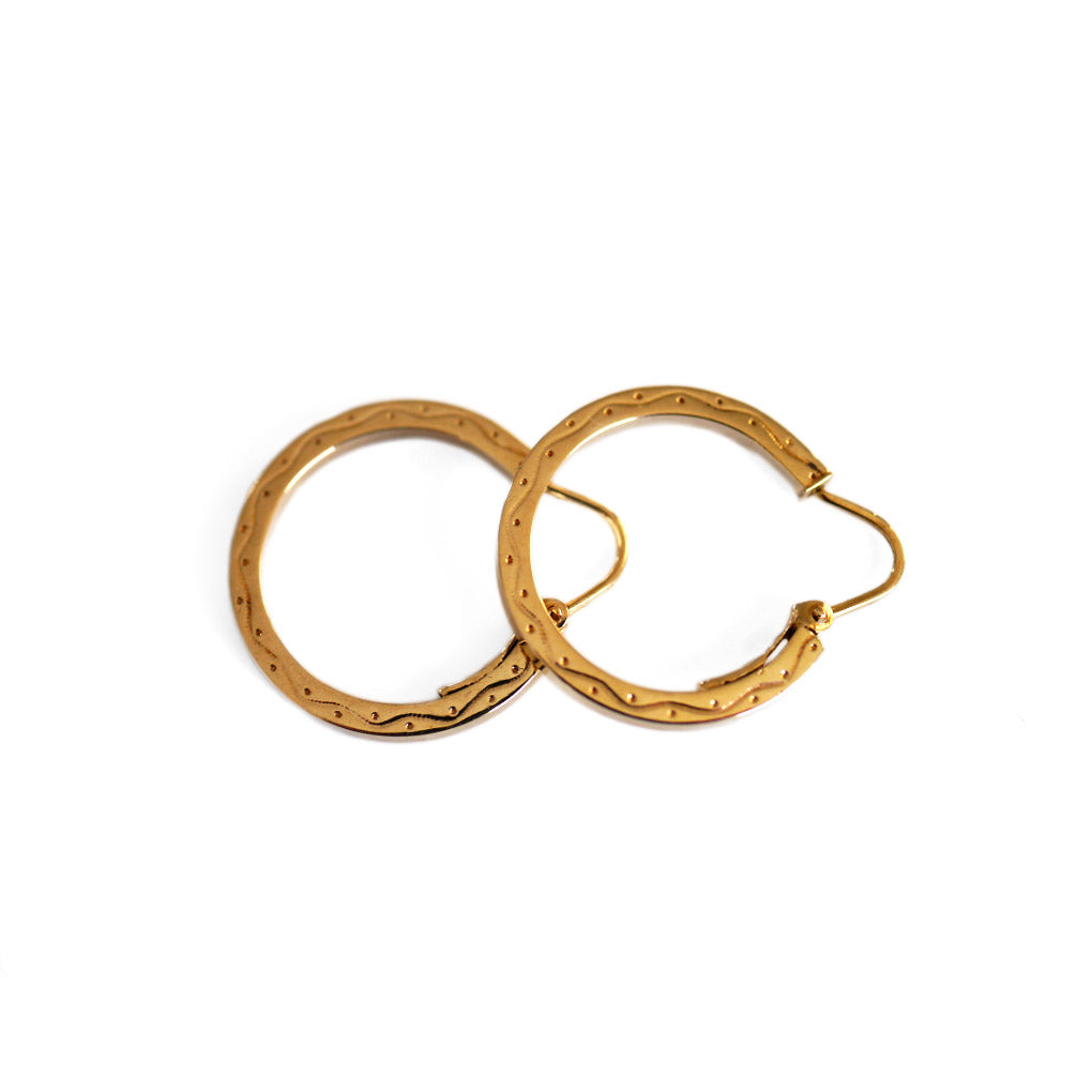 Gold Glorious Gold: Small Horseshoe Hoops