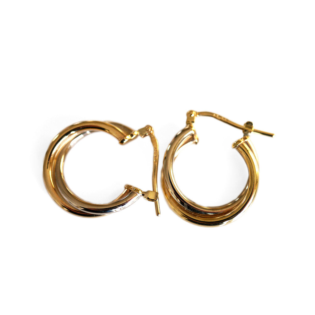 Gold Glorious Gold: Small Double Hoops