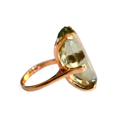 1960s Prasiolite Cocktail Ring Vintage