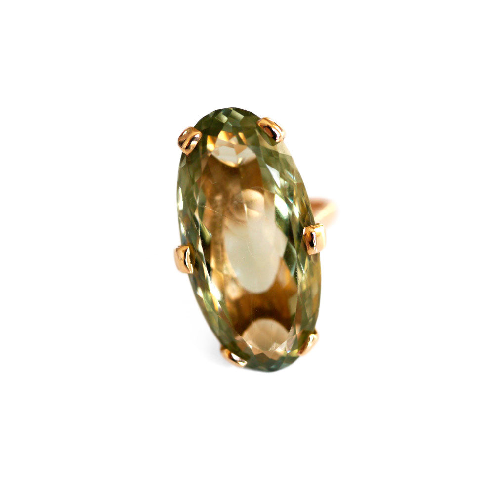 1960s Prasiolite Vintage Cocktail Ring