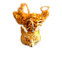 Vintage Gold Fox Necklace