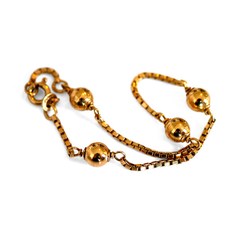 Gold Glorious Gold: Golden Balls Bracelet