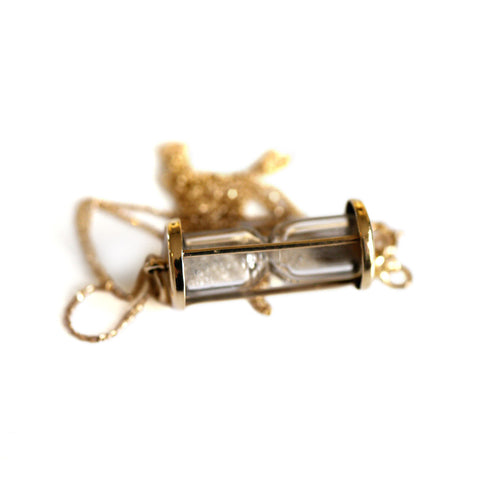 Vintage Stardust Hourglass Necklace