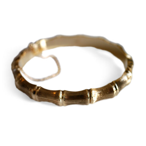 Gold Glorious Gold: 1960s Bamboo Bracelet