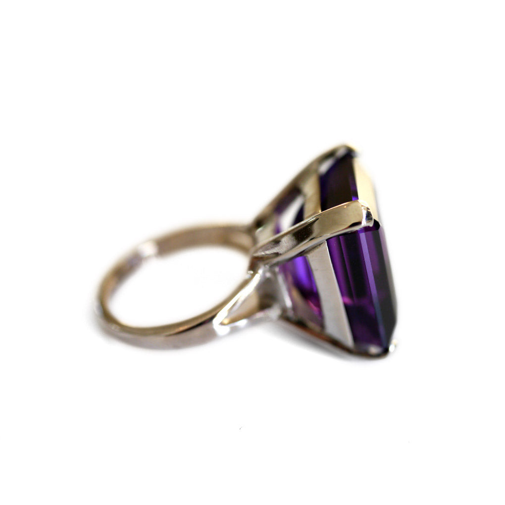 Alluring Amethyst White Gold Cocktail Ring