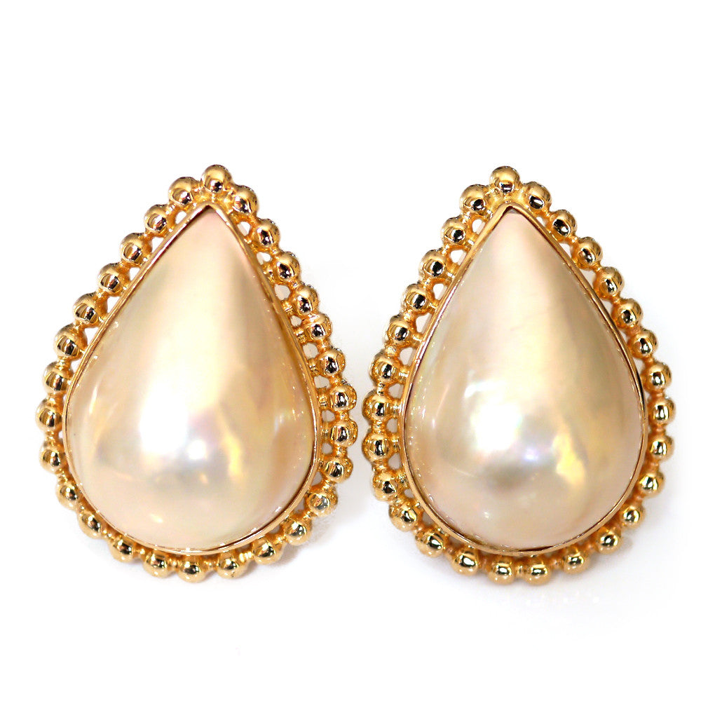 Vintage Oversized Pearl Earrings