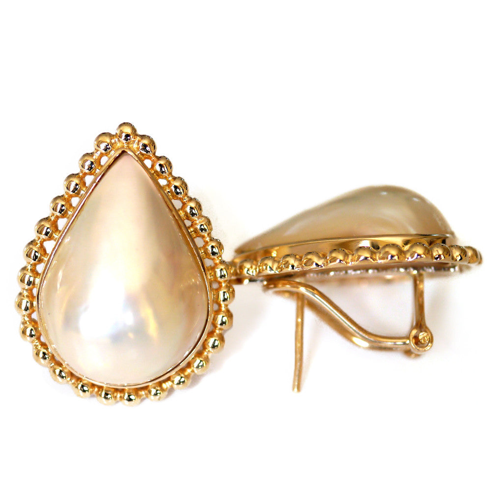 Oversized Vintage Pearl Earrings