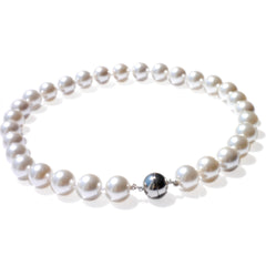 Pearls Girls: Lustrously Large Pearl Necklace (Satin White)