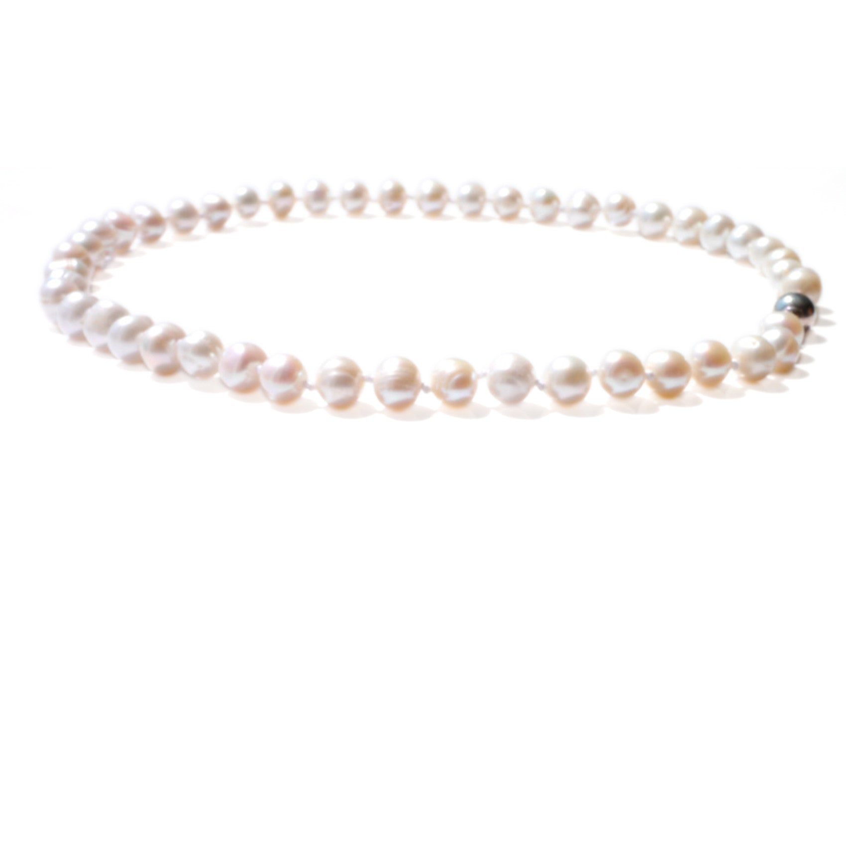 Pearls Girls: Lustrously Little Pearl Necklace (Satin White)