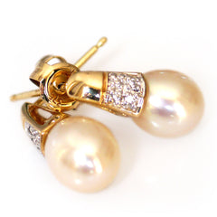 Petit Pearls & Pave Diamond Earrings