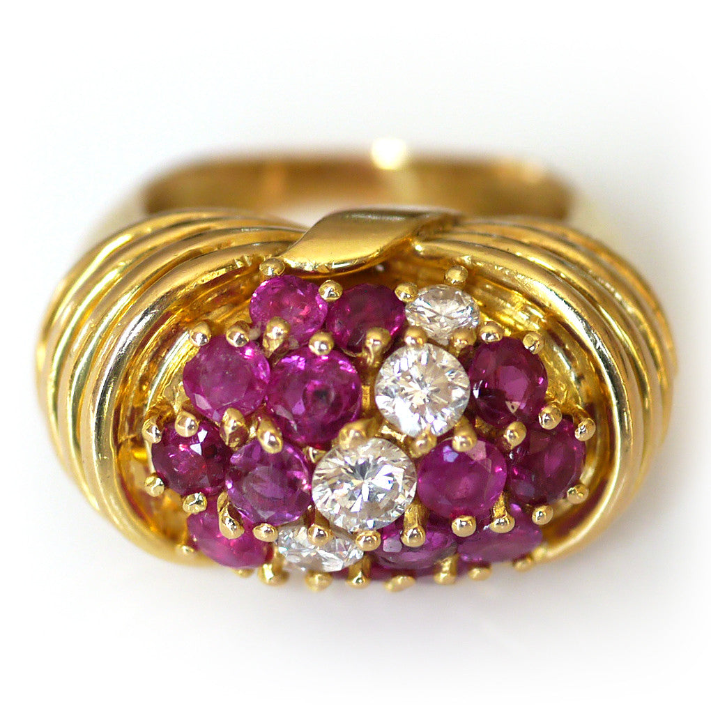 Kutchinsky Ruby & Diamond Ring
