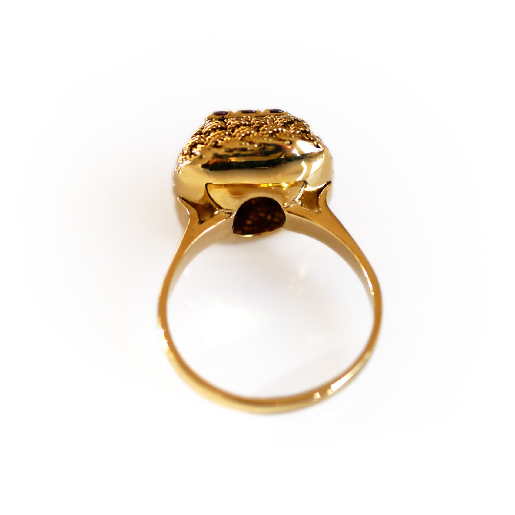 Vintage Gold Ruby Rope Ring