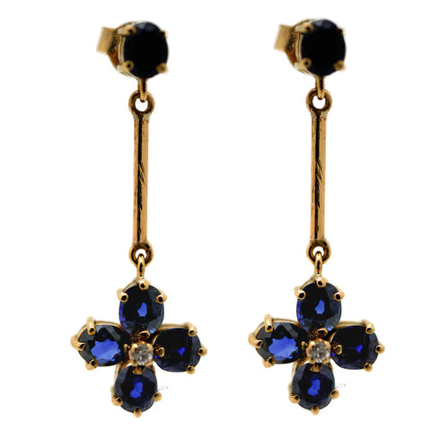 Graceful Sapphire and Diamond Earrings