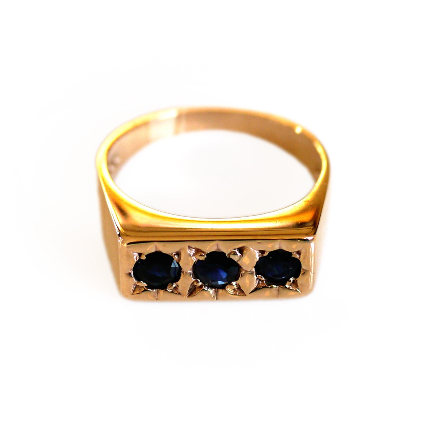 Sapphire Trilogy Gypsy Ring