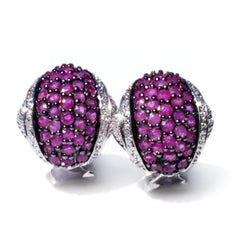 Silver Linings: Radiant Ruby Earrings