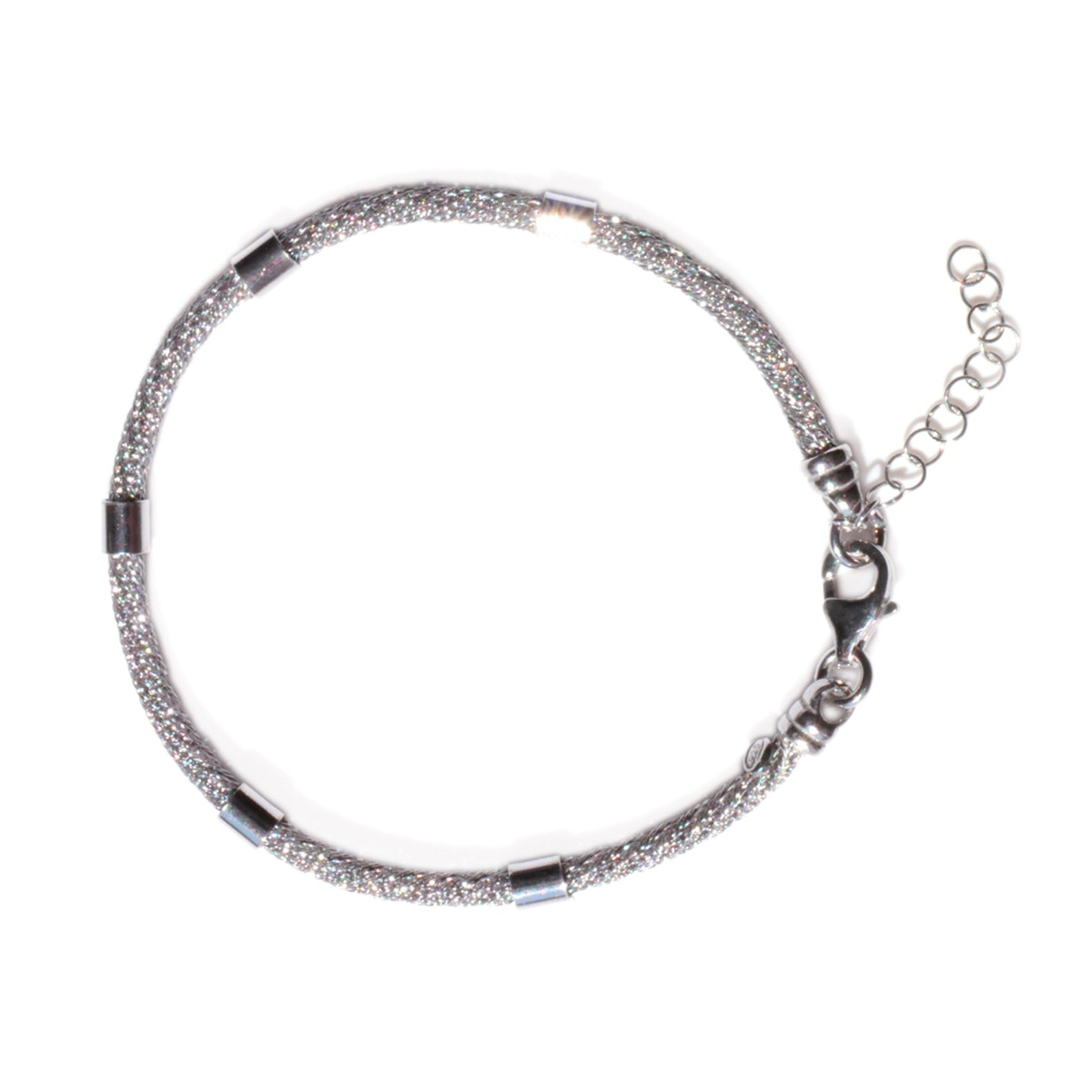 Silver Linings: Three Tone Rope Bracelet
