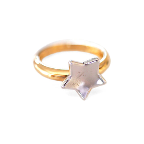 Cute Vintage Star Dress Ring