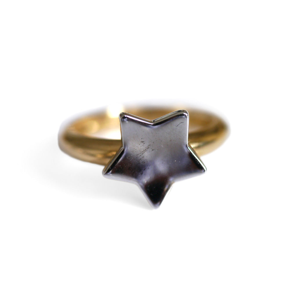 Cute Gold Star Vintage Ring