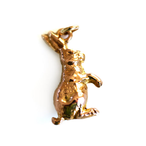 Gold Glorious Gold: Hare Pendant