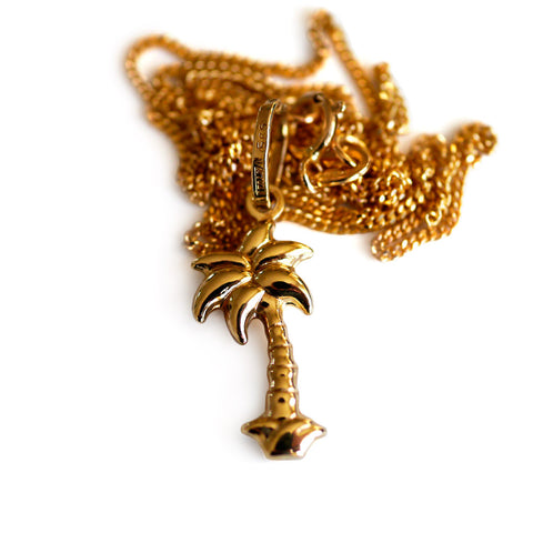 Gold Glorious Gold: Palm Tree Pendant