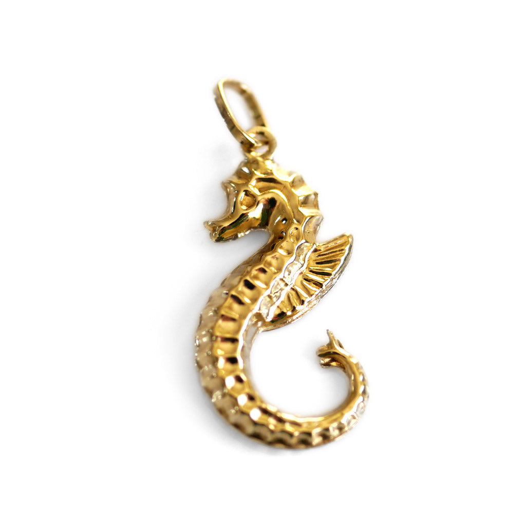 Gold Glorious Gold: Seahorse Pendant