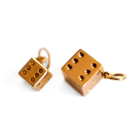 Gold Glorious Gold: Tiny Dice Pendant Charm