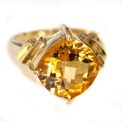 Citrine Commanding Solitaire Ring