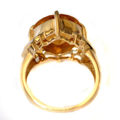 Vintage Jewellery Citrine Commanding Solitaire Ring