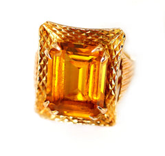 Citrine, Stunningly Steamy Cocktail Ring