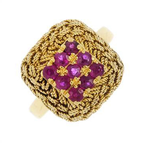 Radiant Ruby Rope Ring