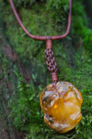 Amber Weave Necklace