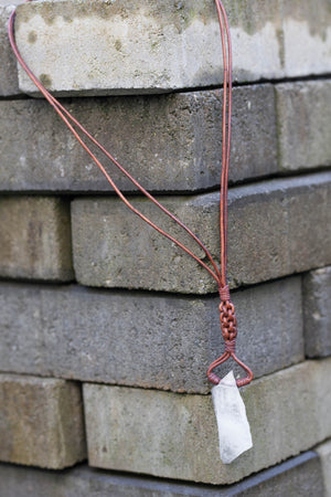 Quartz Diamond Weave Necklace