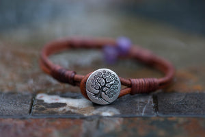 Amethyst Tree of Life Signature Series Button Bracelet