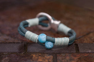 Blue Quartz Buckle Bracelet