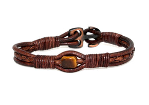 Tiger's Eye Anchor Bracelet