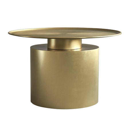 Coffee table Pillar, low 41cm, brass