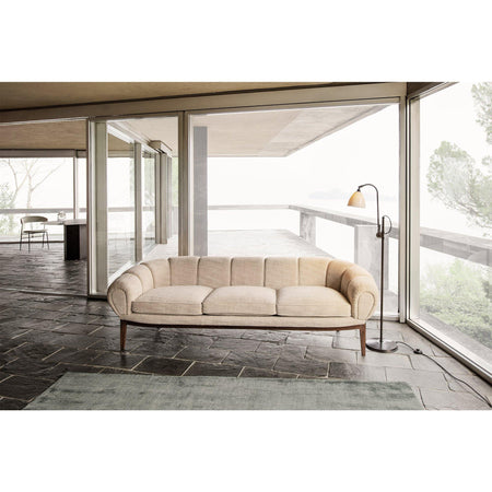 Sofa Croissant, 230cm, different wood finishes and fabrics - Nordic Design Home